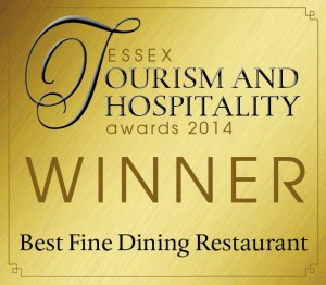 Essex Tourism 2014 Winner_Best Fine Dining Restaurant
